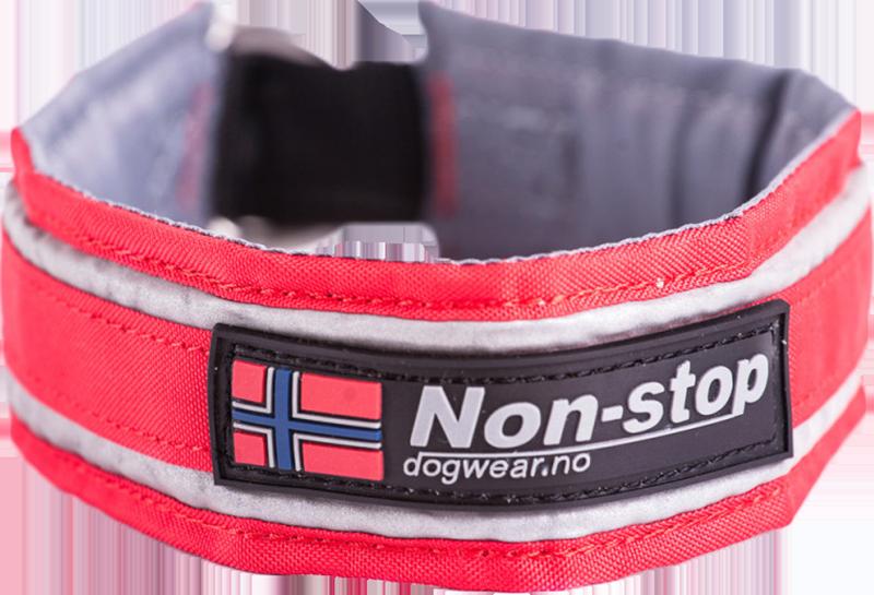 Non Stop Dogwear Active Halsbånd 60 Sort Komfortabelt