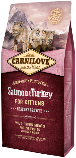 Carnilove Kitten Healthy Growth Salmon & Turkey