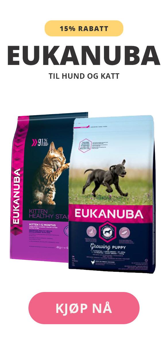 eukanuba rabatt til hund og katt