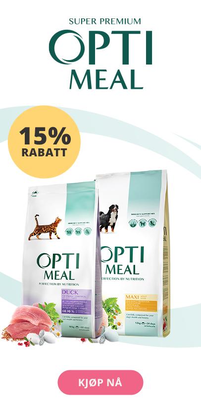 Optimeal til hund og katt 15% rabatt